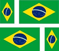 12 Brazil flags vinyl stickers football baseball hockey soccer helmet car sport
