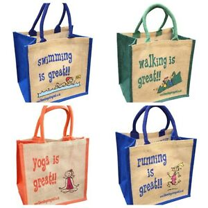 Jute Shopping Bags - SPORTS from 'These Bags are Great' - Good Size Bag Gift
