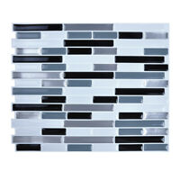 4Pcs Peel and Stick 3D Wall Tiles Self Adhesive Backsplash Kitchen Bathroom DIY