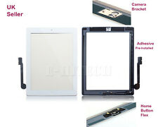 iPad 4 White Digitizer Touch Screen Glass Lens  with Home Button  Apple + tools