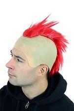 Carnevale Halloween Parrucca Punk Rossa Iro Calvo Mohawk Irochese 4201
