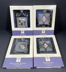 4-2002 Hallmark The Family Tree Mini Picture Frames Lot Glass and Metal Frames
