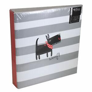 "Fun Animal 5""x7"" Slip in Photo Album Holds 104 Photos Woof Cover Design"