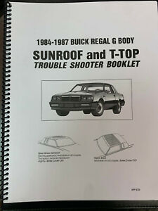 Grand National Moonroof Astro T-Top Roof Trouble Shooting Reference Manual Guide