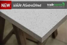 White Mineralstone Laminate Benchtop - 3600x615x38mm - Kitchen Laundry Sydney
