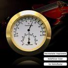 Violin Case Thermometer Hygrometer Humidity Temperature Meter Round Guitar