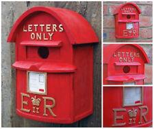 Bird house Post Box Red Traditional British Letterbox Bird House Garden Ornament