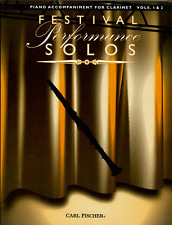 Festival Performance Solos-Clarinet Vol 1 & 2-Piano Accompaniment Music Book-New