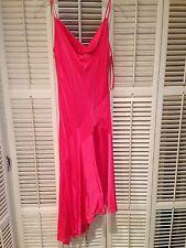 BCBG drape neck silk dress - peony sz S