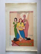 Ed Vera Cortez, Secretary Week Serigraph '83, DIVEDCO Cartel, Puerto Rico Art