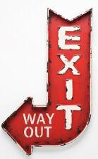 KARE Design Retro Wanddekoration Exit Metallschild Vintage Schild Dekoration