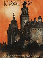 TRAVEL TOURISM KRAKOW POLAND WAWEL CASTLE RAIL FRANCE ART POSTER PRINT LV4209