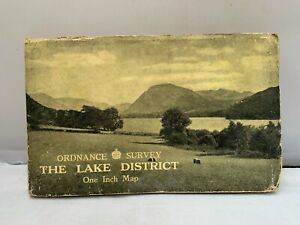 Vintage Ordnance Survey One Inch Map of The Lake District Printed 1948 On Cloth
