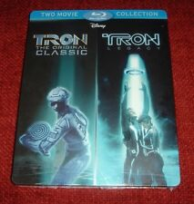 Tron / Tron Legacy *Blu - Ray Steelbook* / Sweden / Brand New / Factory Sealed!!