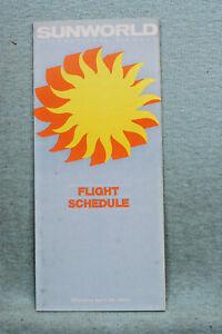 Sunworld International Airways Timetable - April 29, 1984