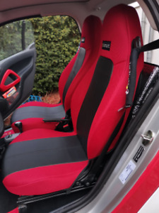 CAR SEAT COVERS (2 pcs) | Made for SMART | Leatherette & Synthetic Combinations