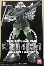 Bandai Gundam Pg Ms-06 Zaku Ii Custom Set #1 Clear Body and Weapons 1/60 Scale