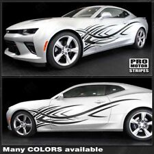 Chevrolet Camaro 2010-2019 Tribal Style Side Stripes Decals (Choose Color)