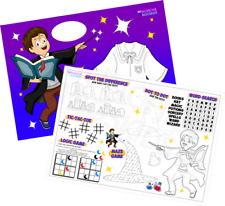 Pack of 12 - A4 Magic Wizard Party Placemat Tabletop Activity Sheets Bag Fillers