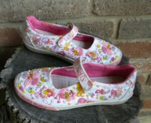 LELLI KELLY White And Pink LEATHER LOW TOP SNEAKERS W/MULTI-COLOR BEADED SHOES