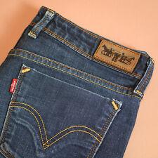 Levi 627 Jeans Straight Leg Zip Fly Blue Vintage Women's (LabelW32L32) W 32 L 31