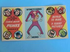 OLD CARD 1966  COMIC BOOK FOLDEES MARVEL  STRETCHING HERO