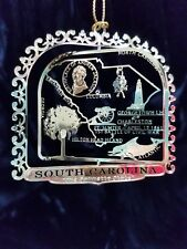 South Carolina Ornament Brass Palmetto State SC Collectable Travel Souvenir Gift