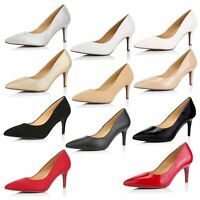 DailyShoes Women's High Heels Cushioned Office Pointy Toe Stiletto Pumps Shoes