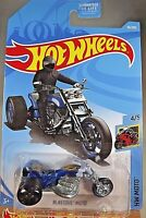 2019 Hot Wheels #10 HW Moto 4/5 BLASTOUS MOTO Dark Blue w/Black OH5 Spoke Wheels