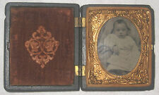 Antique Littlefield, Parsons and Co Daguerreotype Tintype Tiny Girl/Baby Photo