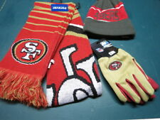 NWT SAN FRANCISCO 49 ERS Scarf ,Hat and Glove  combo  FREE S/H