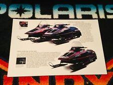 92 POLARIS INDY Performance Snowmobile lineup Poster vintage sled 650 Pumpkin