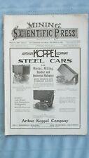 1907 Mining & Scientific Press-Ore Car Companies-Western Mining-Mine Equipment