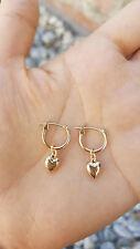 Sweetheart earrings/puffy heart earrings/14k yellow heart earrings/mother's day