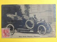 cpa Photo BONN en 1906 PRINZ Auguste GUILLAUME de PRUSSE AUTOMOBILE VOITURE CAR