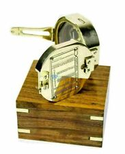 NAUTICAL BRUNTON BRASS COMPASS STANLEY LONDON COMPASS WITH WOODEN BOX