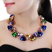 Women Chunky Choker Statement Bib Necklace Gold Chain 6 Colors Fashion Jewelry