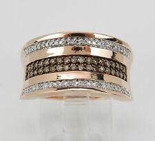 Fancy Cognac Diamond Wedding Ring Anniversary Band Rose Pink Gold Size 7