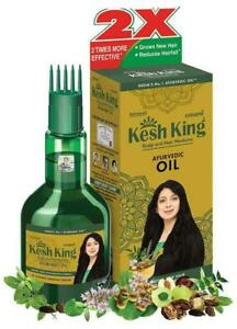 Kesh King Ayurvedic Scalp and Hair Oil, 100ml with top comb