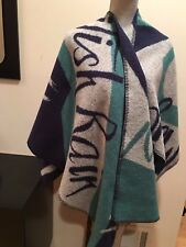 NEW BURBERRY PRORSUM MAGIC WOOL CASHMERE PONCHO CAPE WRAP SHAWL SCARF BLANKET