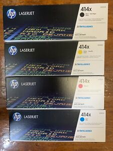 Lot Of 4 HP 414x LaserJet Toner W2020x W2021x W2022x W2023X-New