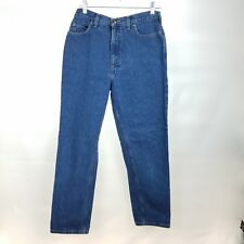 Lands End Womens 10 Regular Medium Wash Jeans Mid Rise