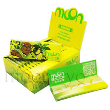 MOON Banana Flavor Hemp Rolling Papers 77*45mm 20 Booklets=800 leaves smoking