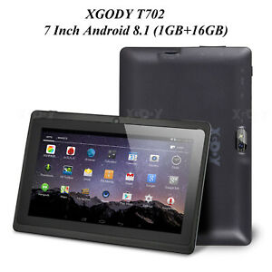"""XGODY 7"""" inch Android Tablet PC Quad-Core Dual Cam 1+16GB Bluetooth GPS WIFI IPS"""