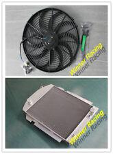 Aluminum Alloy Radiator &Fan Fit CHEVY PICKUP/TRUCK W/SBC/BBC V8 OR L6 1938-1940