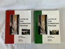 Latin in the Christian Trivium Set Vol. I and 2 Textbooks XS Edition Homeschool