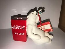 Nwt Coca-Cola Coke Polar Bear With Cooler Having A Coke Figurine
