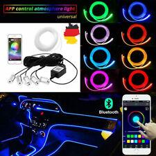 6M Auto PKW LED Ambientebeleuchtung Innenraumbeleuchtung Lichtleiste App DE