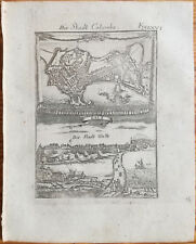 Mallet + Original Engraving Colombo Ceylon + 1719