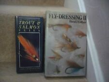 Due FANTASTICI LIBRI Pesca Trota & Salmone Mosche e volare medicazione 11 GRANDE COPPIA